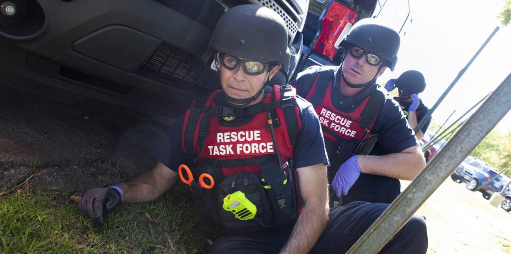 EMS providers during active shooter training in New Hampshire.